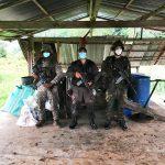 La armada de Colombia destruye tres laboratorios para el procesamiento de cocaína en el cauca