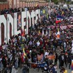 Manifestaciones transcurrieron en calma, salvo algunos actos de vandalismo